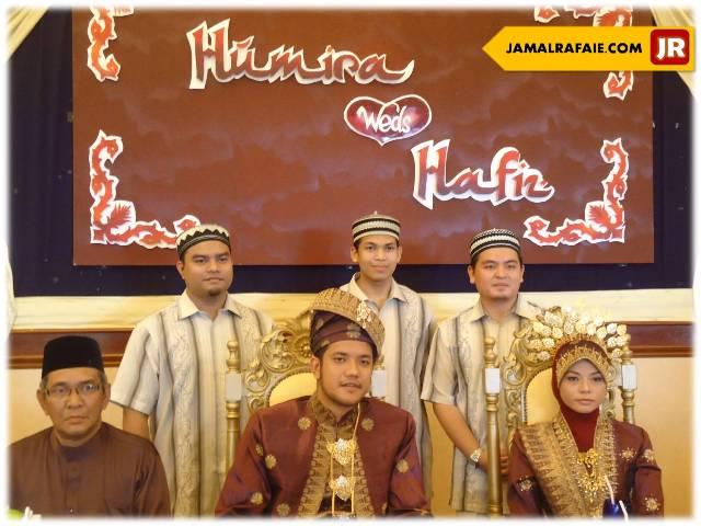 majlis kawin Hafiz dan Humira