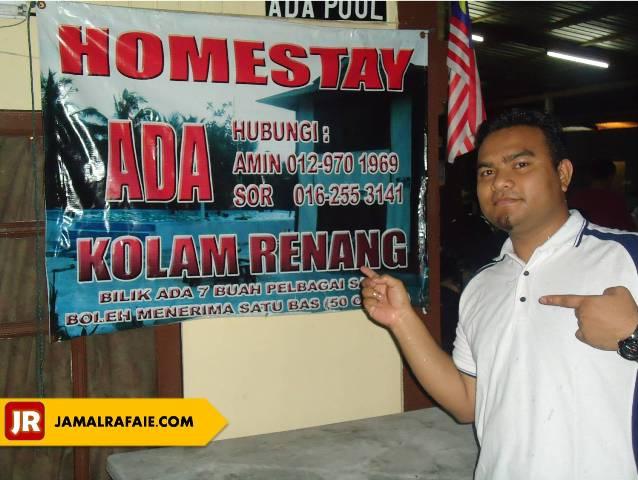 Banner Homestay Ada Kolam Renang