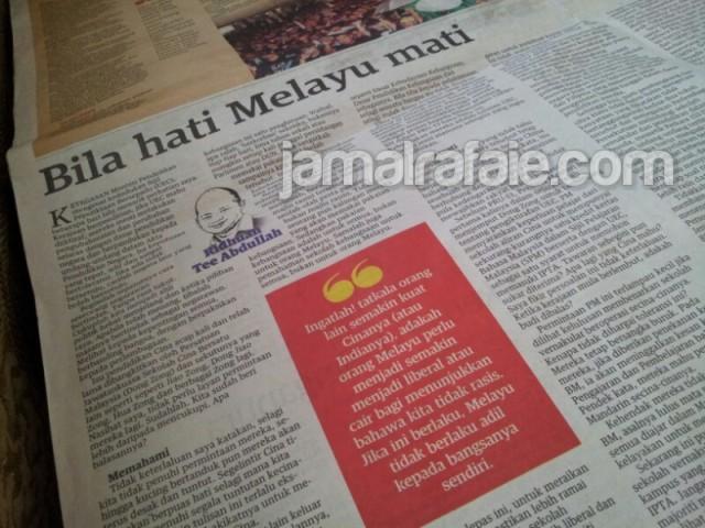 Rencana Dr. Ridhuan Tee di Mingguan Malaysia - 26/5/2013