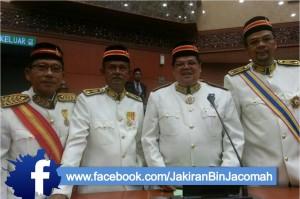 Dari kiri : Dato Amiruddin Setro (Jeram), Bapak-Jakiran Jacomah (Bukit Melawati), YB Syukor (Kuang) dan Dato Johan Aziz (Semenyih)